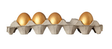 One golden egg stolen Stock Images