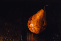 One Golden Pear Stock Photo