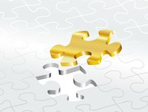 One golden puzzle Stock Photo