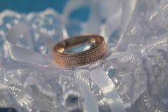 One golden wedding ring Royalty Free Stock Photo
