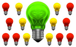 One good idea, lots of bad ideas Royalty Free Stock Photo