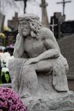 Sculpture of Jesus in the cemetery stock photography