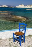 One Greek chair Stock Images