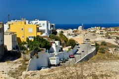One of the Greek cities on Kos island. One of the Greek cities on Kos island - Kefalos royalty free stock images