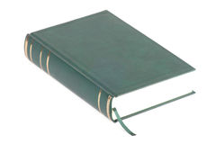 One green blank book with bookmark Stock Photo