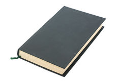 One green blank book with bookmark Royalty Free Stock Images