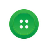 One Green Button with 4 Holes Royalty Free Stock Photography
