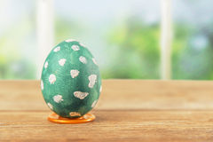 One green Easter egg Stock Photos