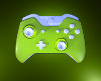 One Green Game Controller Royalty Free Stock Photos