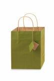 One Green Gift Bag Stock Photos