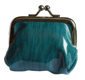 One green purse Royalty Free Stock Image