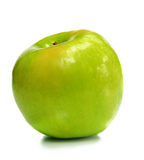 One Green Ripe Apple Stock Photos