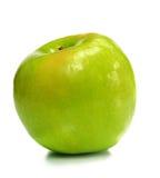 One green ripe apple Stock Photos