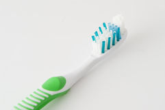 One greenl toothbrush Royalty Free Stock Images