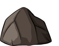 One grey rock. On a white background vector illustration