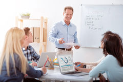 One group of students studying in the class Royalty Free Stock Image