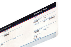 one grungy air ticket isolated, paper texture Royalty Free Stock Image