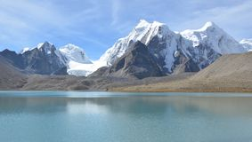 The One with the Gurudongmar Lake Royalty Free Stock Image