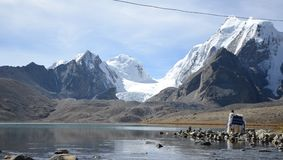 The One with the Gurudongmar Lake Royalty Free Stock Photo