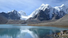 The One with the Gurudongmar Lake Stock Photography