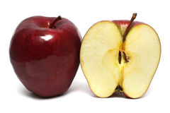 One and Half Apple Stock Photography