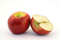 One and a half apple Stock Photo