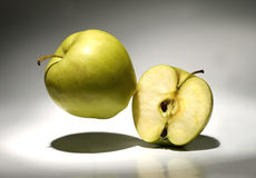 One and a half of apples Royalty Free Stock Photo