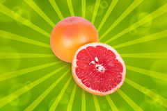 One half of a grapefruit Royalty Free Stock Images
