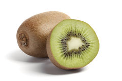 One and a half kiwi Stock Photography