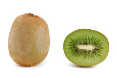 One half of kiwi and one whole kiwi Royalty Free Stock Photography