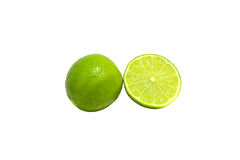 One and half limes Royalty Free Stock Photography