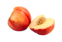 One and a half nectarine Royalty Free Stock Images