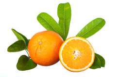 One and a half orange Stock Images