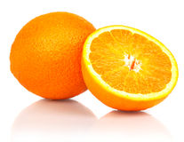 One and half oranges Royalty Free Stock Photo