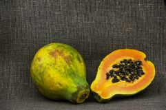 One and a half papaya Royalty Free Stock Images