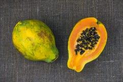 One and a half papaya Stock Image