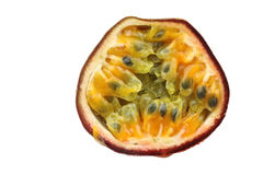 One half passion fruit Royalty Free Stock Photography