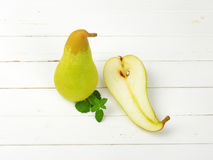 One and half pears Stock Image