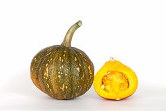 One and a half pumpkins Royalty Free Stock Images
