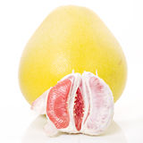 One and a half red honey pomelo Stock Photography