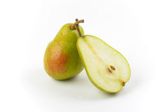 One and half ripe pears Royalty Free Stock Image