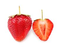 One and half strawberries. Royalty Free Stock Image