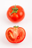 One and half tomato. Isolated Stock Photography