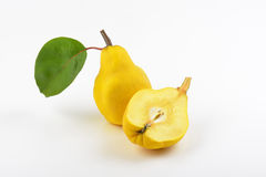 One and half yellow pears Stock Photography