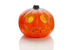One halloween plastic pumkin Stock Photos