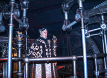 At one of halls of historical part of  Madame Tussauds museum in London. Royalty Free Stock Image