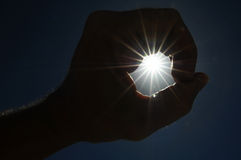 One Hand Catching the Sun Stars on Stock Images
