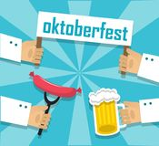 Sausages beer and oktoberfest Stock Photography