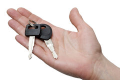 One hand with keys Stock Photo