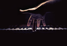 One Hand on a Midi Controller Royalty Free Stock Images